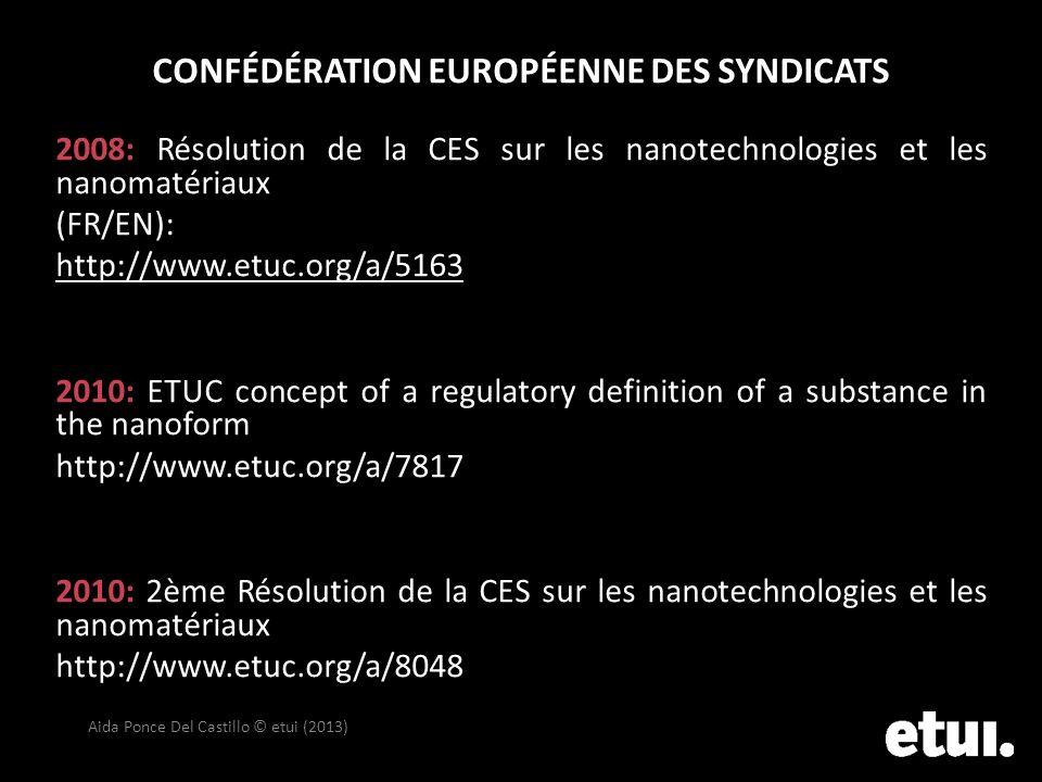 Confédération européenne DES SYNDICATS