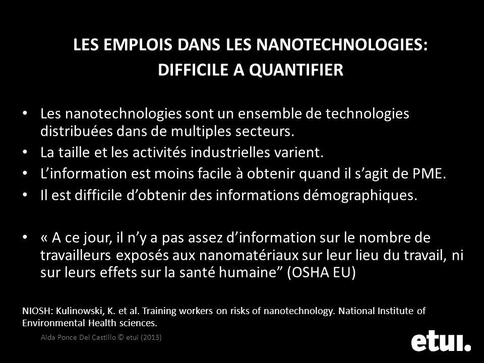 LES EMPLOIS DANS LES NANOTECHNOLOGIES: DIFFICILE A QUANTIFIER