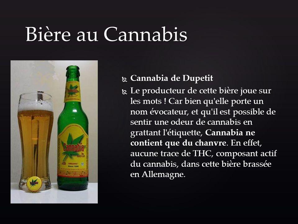 Bière au Cannabis Cannabia de Dupetit
