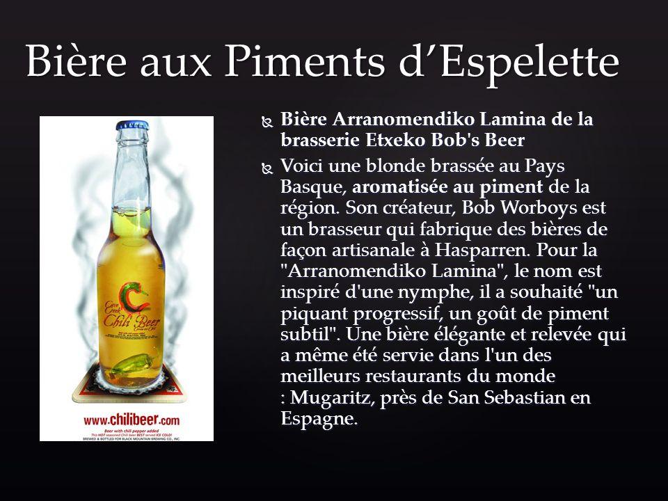 Bière aux Piments d'Espelette