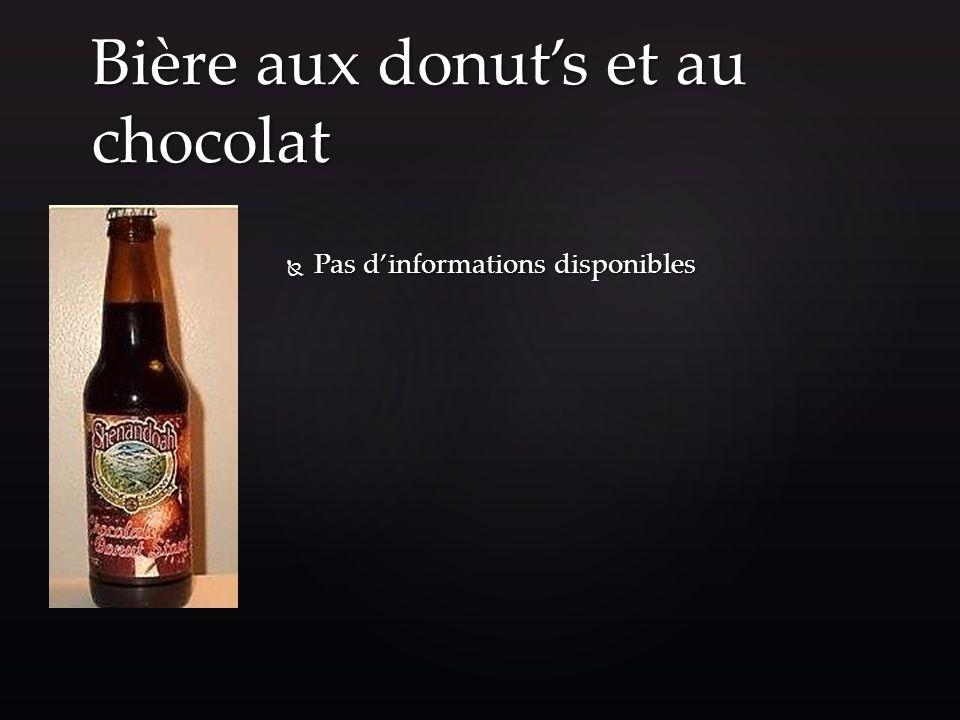 Bière aux donut's et au chocolat