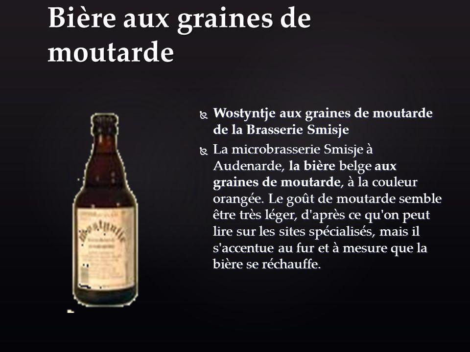 Bière aux graines de moutarde