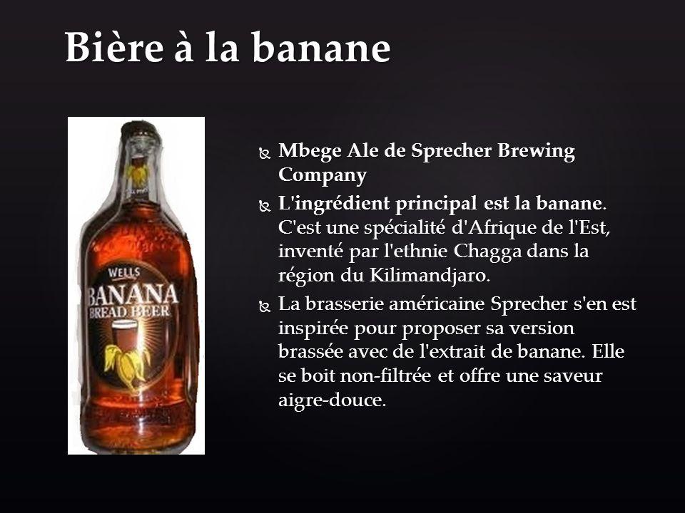 Bière à la banane Mbege Ale de Sprecher Brewing Company