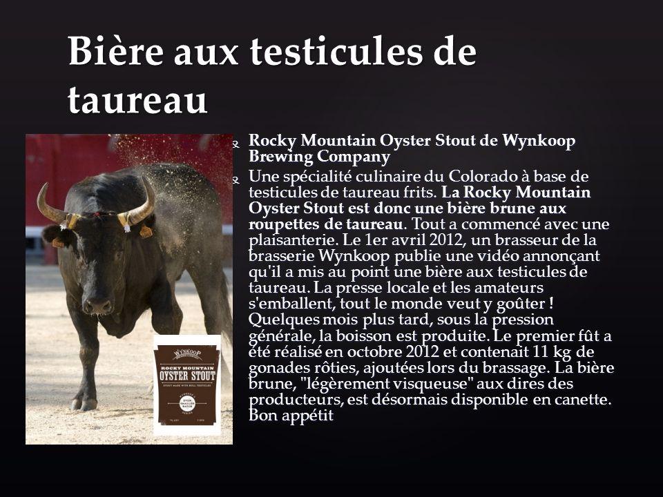Bière aux testicules de taureau