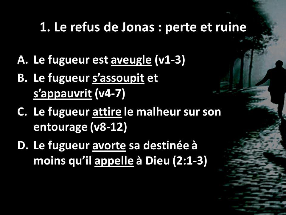 1. Le refus de Jonas : perte et ruine