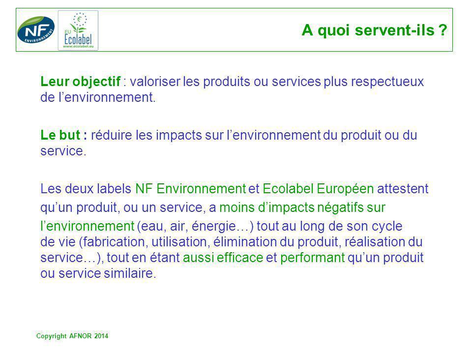 A quoi servent-ils Leur objectif : valoriser les produits ou services plus respectueux de l'environnement.