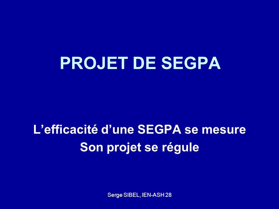 L'efficacité d'une SEGPA se mesure