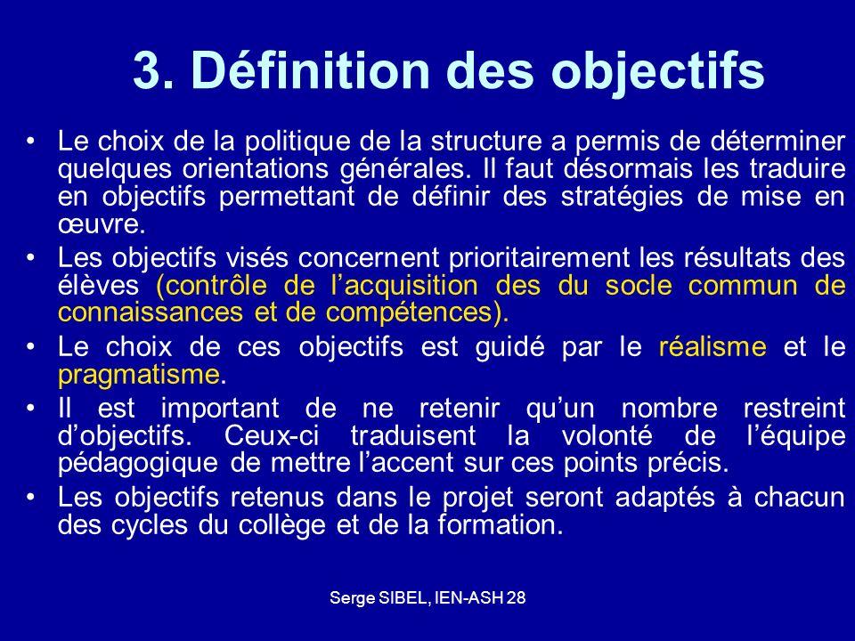3. Définition des objectifs