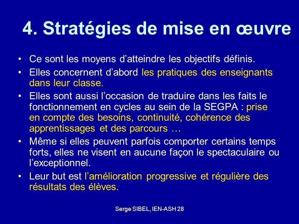 4. Stratégies de mise en œuvre