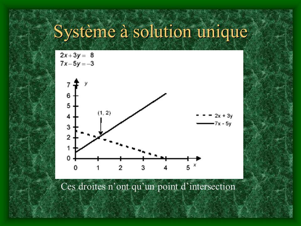 Système à solution unique