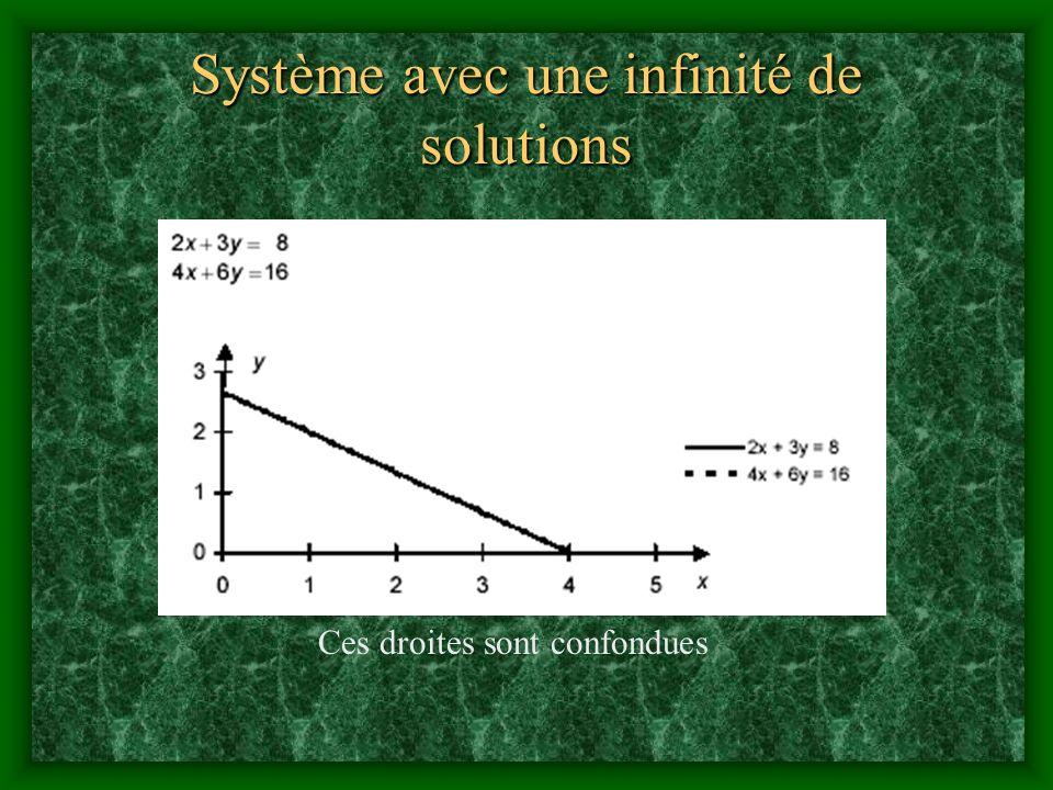 Système avec une infinité de solutions