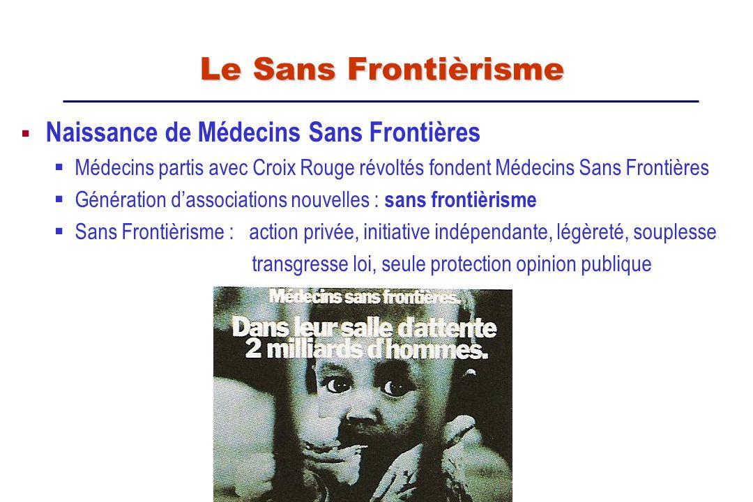 Le Sans Frontièrisme Naissance de Médecins Sans Frontières