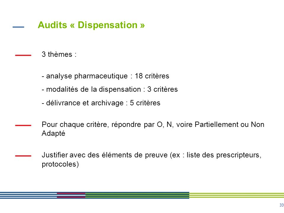 Audits « Dispensation »