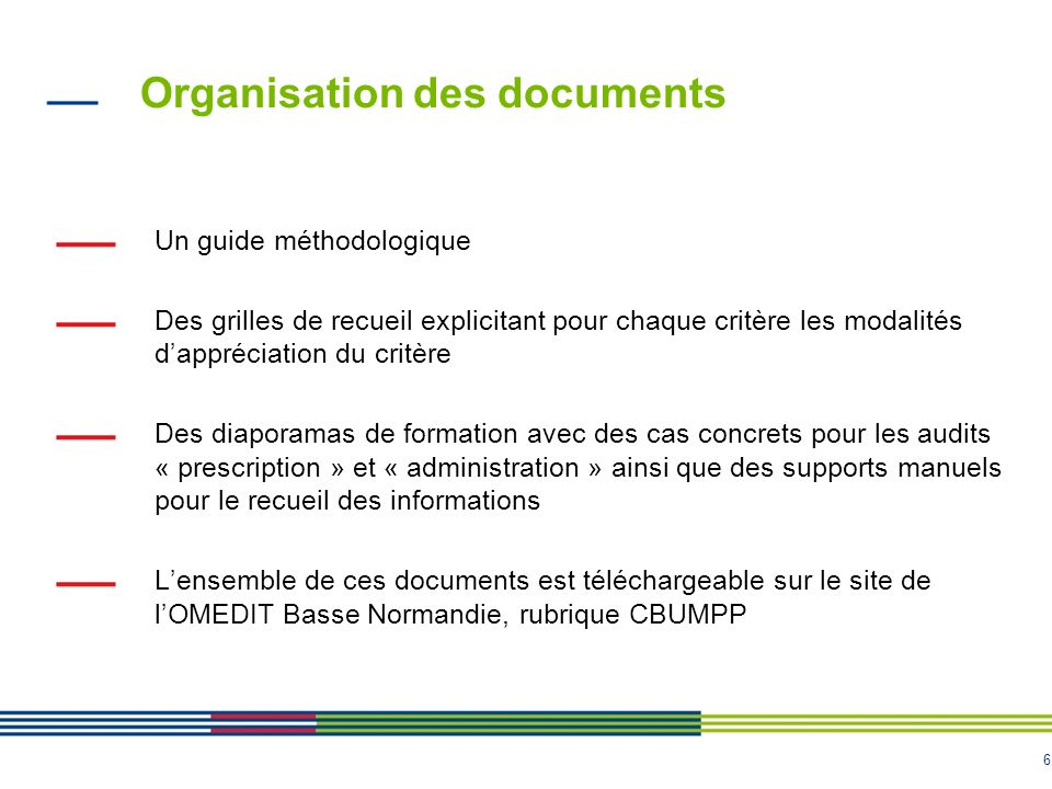Organisation des documents