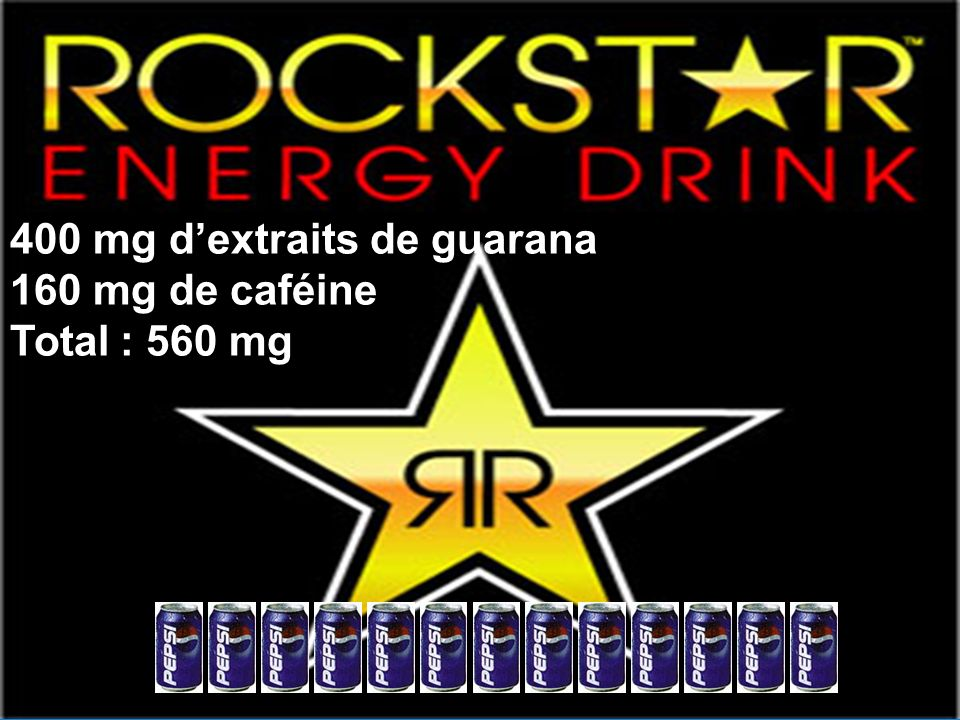 400 mg d'extraits de guarana