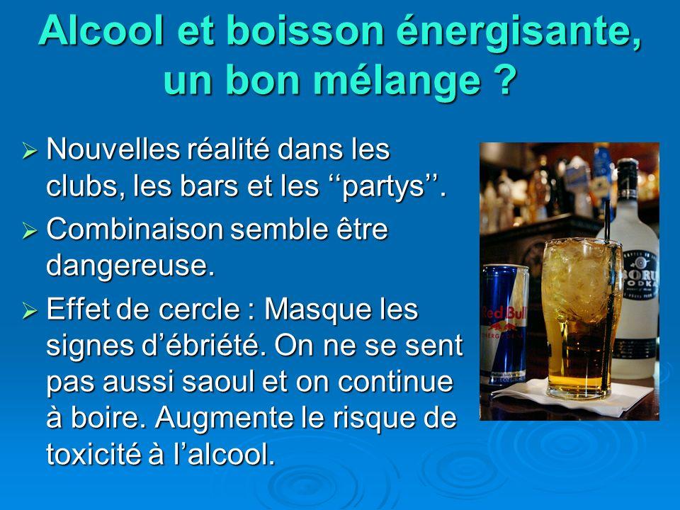 Alcool et boisson énergisante, un bon mélange