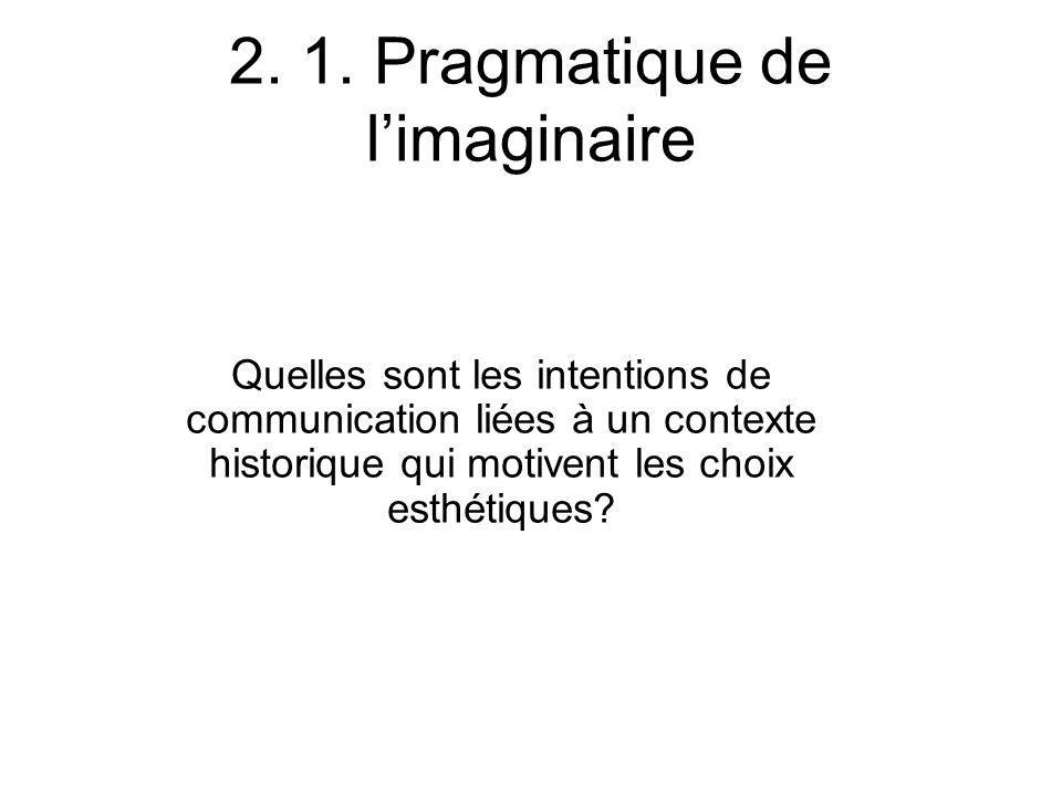 2. 1. Pragmatique de l'imaginaire