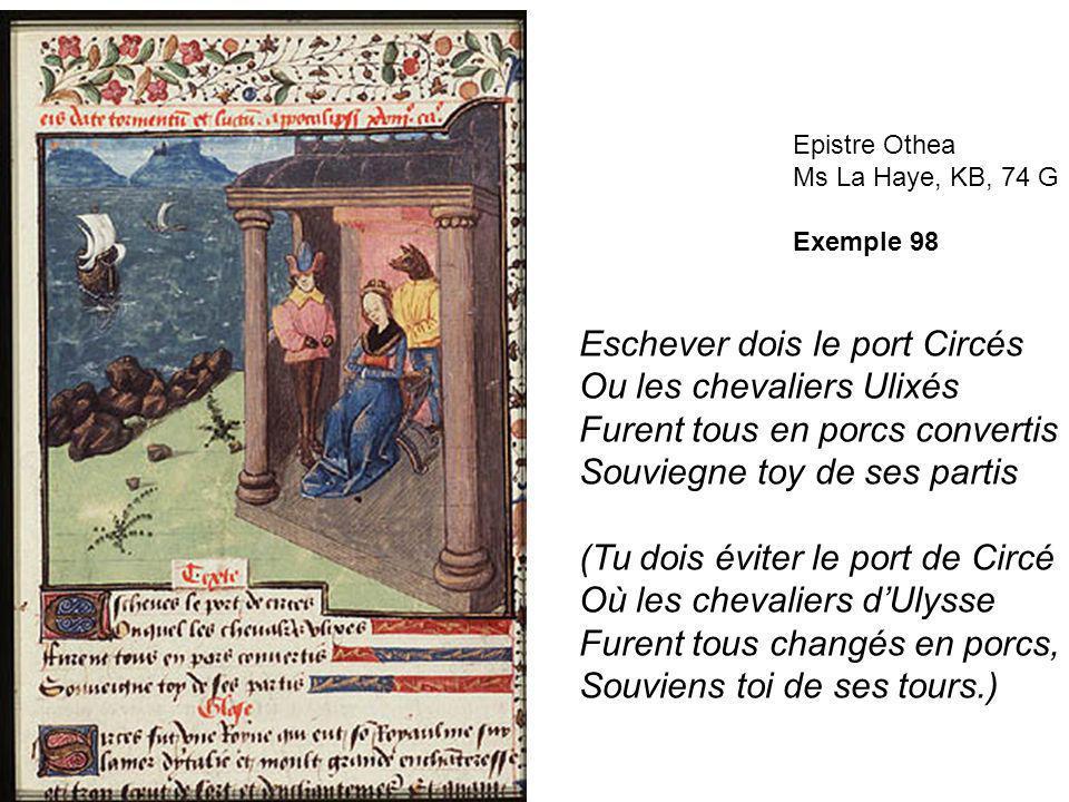 Eschever dois le port Circés Ou les chevaliers Ulixés