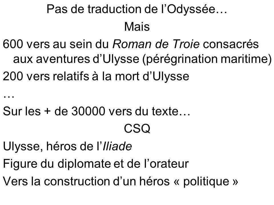 Pas de traduction de l'Odyssée…