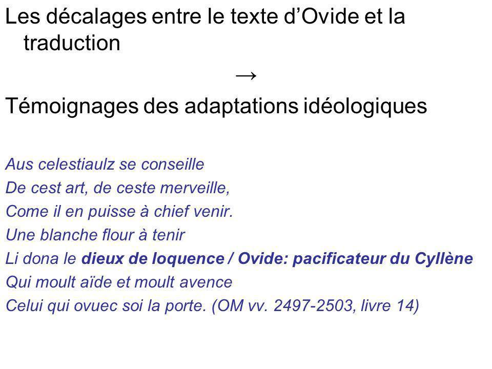 Les décalages entre le texte d'Ovide et la traduction →