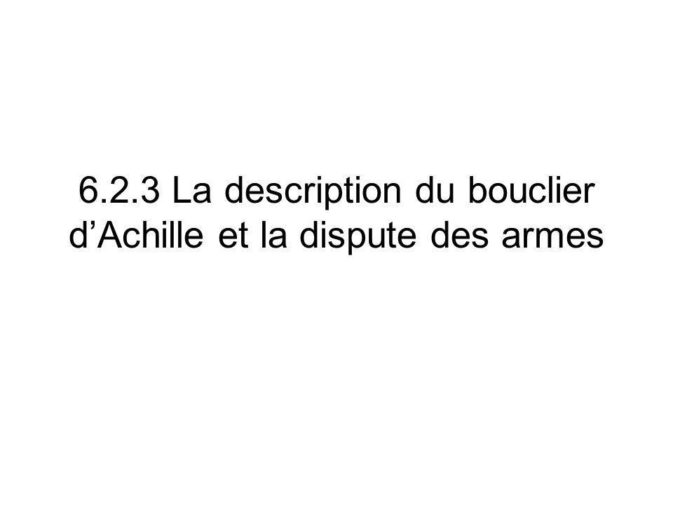 6.2.3 La description du bouclier d'Achille et la dispute des armes