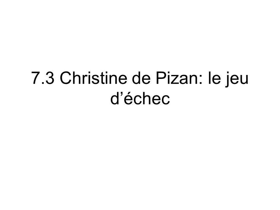 7.3 Christine de Pizan: le jeu d'échec