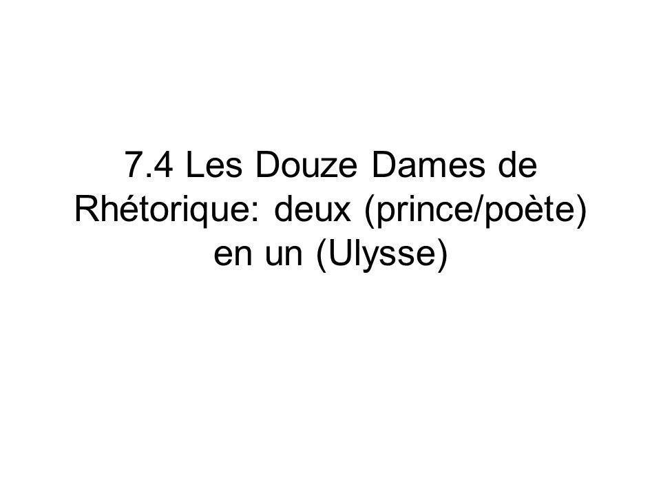 7.4 Les Douze Dames de Rhétorique: deux (prince/poète) en un (Ulysse)