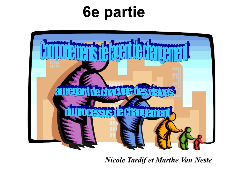 6e partie Comportements de l agent de changement