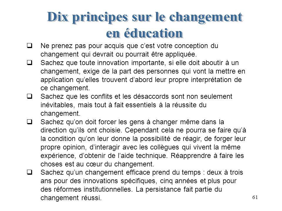 Dix principes sur le changement