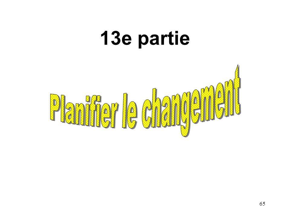 Planifier le changement