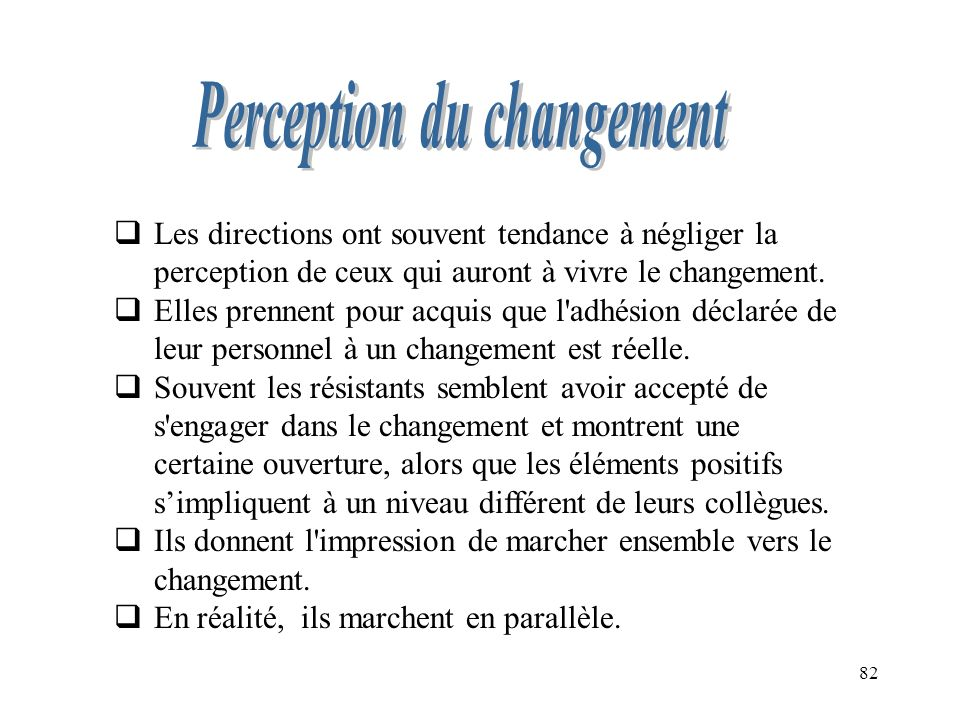 Perception du changement