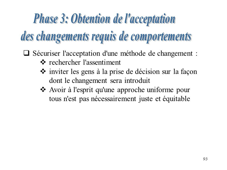 Phase 3: Obtention de l acceptation