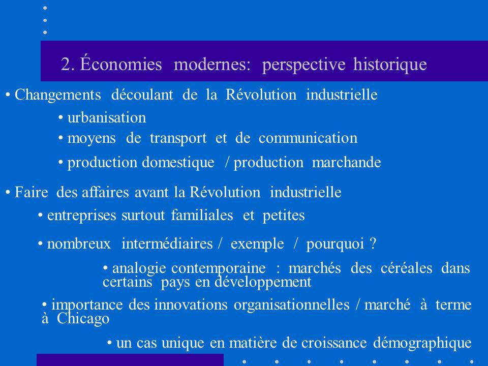 2. Économies modernes: perspective historique