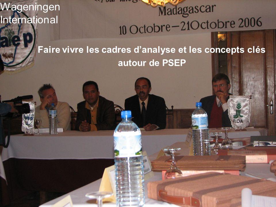 Faire vivre les cadres d'analyse et les concepts clés autour de PSEP