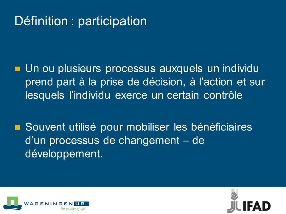 Définition : participation