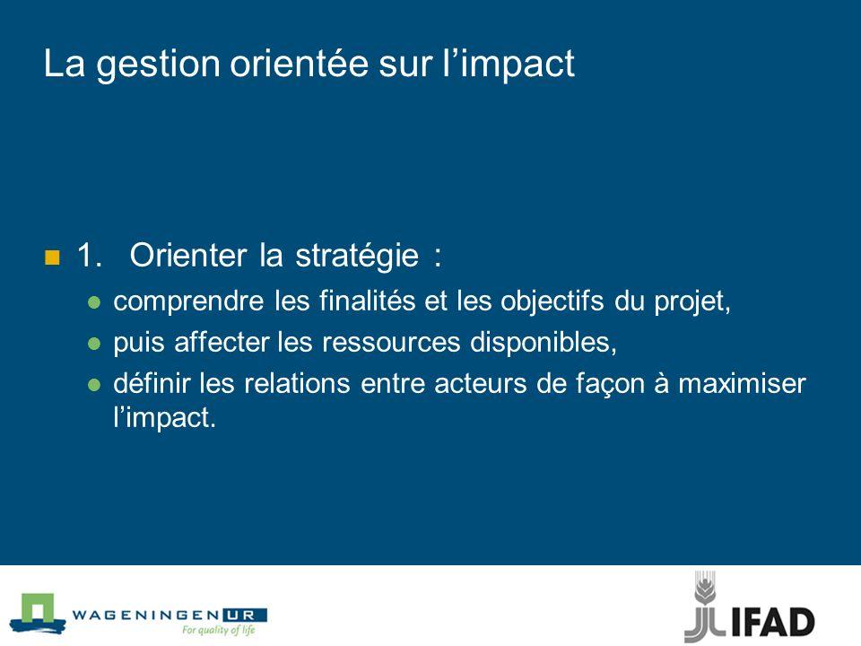 La gestion orientée sur l'impact