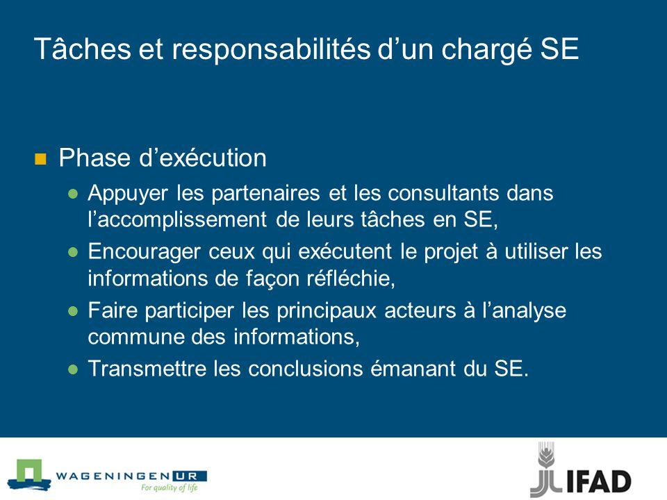 Tâches et responsabilités d'un chargé SE
