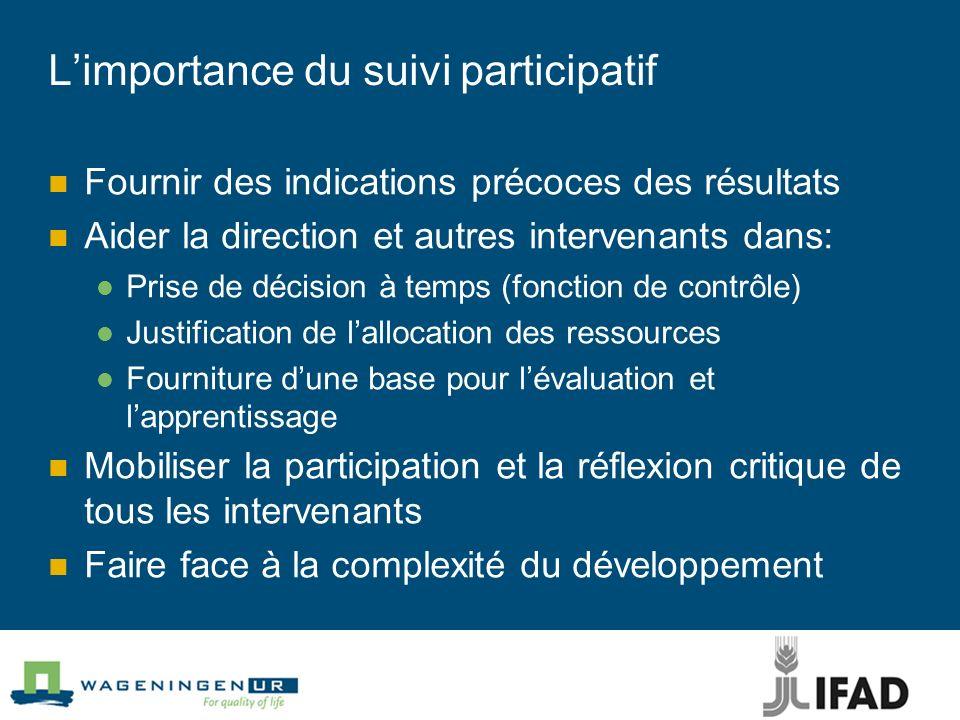 L'importance du suivi participatif