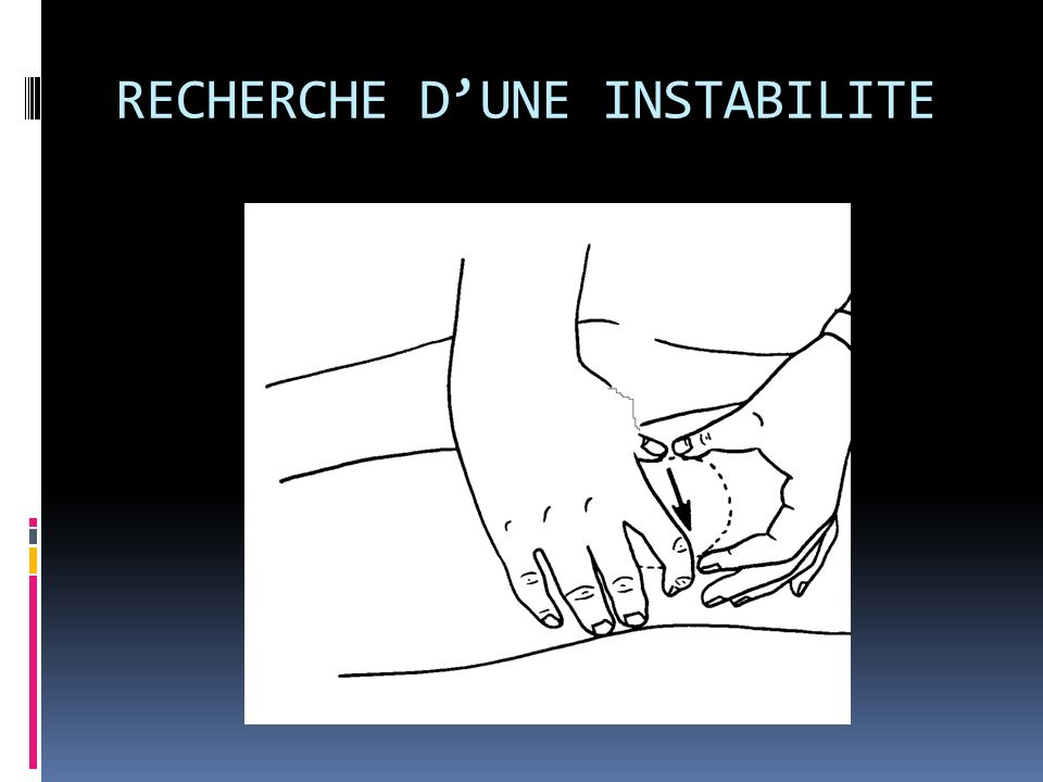 RECHERCHE D'UNE INSTABILITE