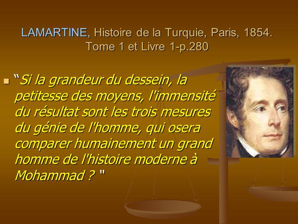 LAMARTINE, Histoire de la Turquie, Paris, 1854. Tome 1 et Livre 1-p