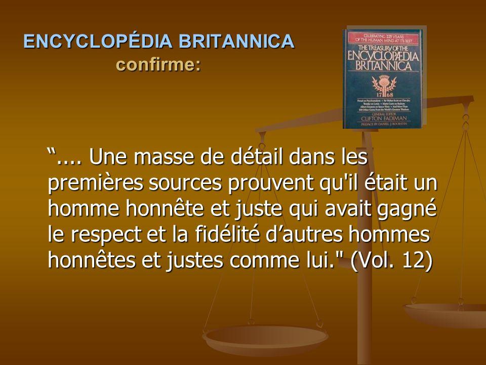 ENCYCLOPÉDIA BRITANNICA confirme: