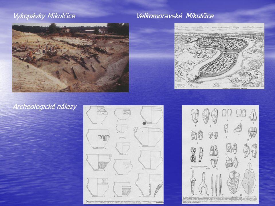 Vykopávky Mikulčice Velkomoravské Mikulčice Archeologické nálezy