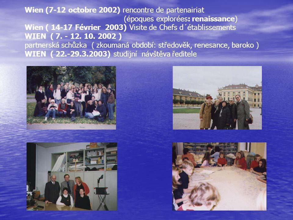 Wien (7-12 octobre 2002) rencontre de partenairiat