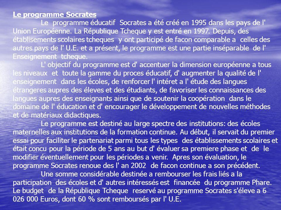 Le programme Socrates