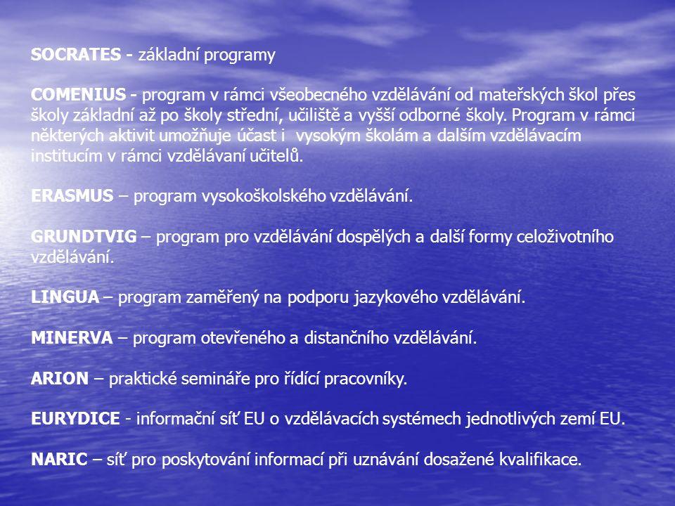 SOCRATES - základní programy