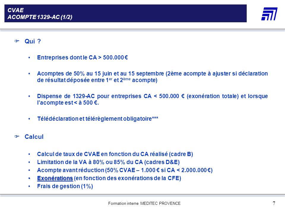 Qui Calcul CVAE ACOMPTE 1329-AC (1/2)