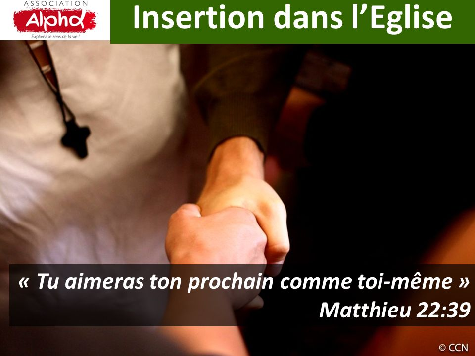 Insertion dans l'Eglise