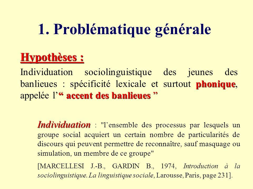 1. Problématique générale