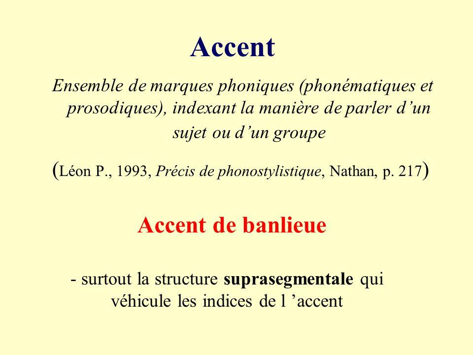 (Léon P., 1993, Précis de phonostylistique, Nathan, p. 217)