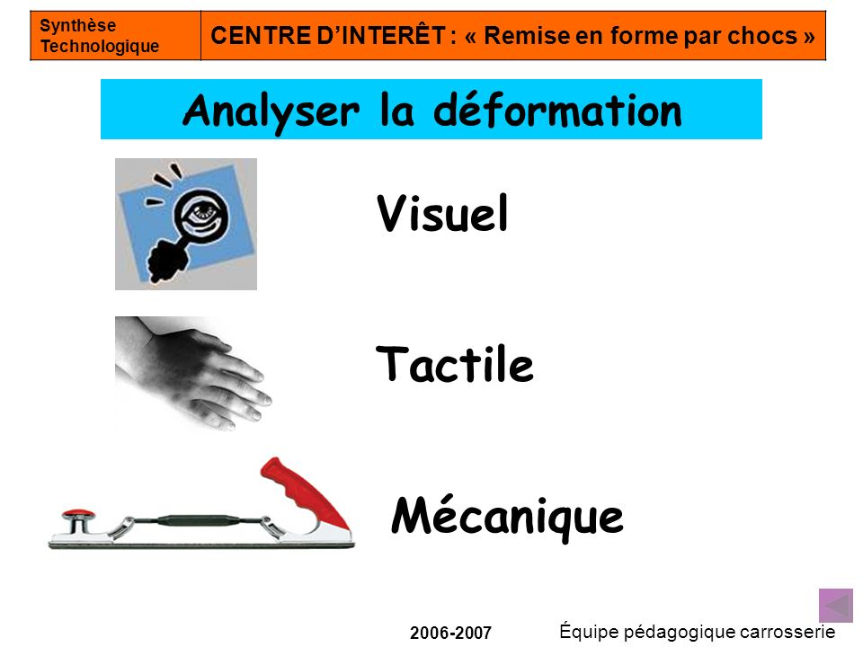 Analyser la déformation